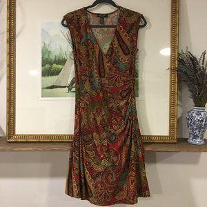 Ralph Lauren Wrap Midi Dress Petite Small Floral